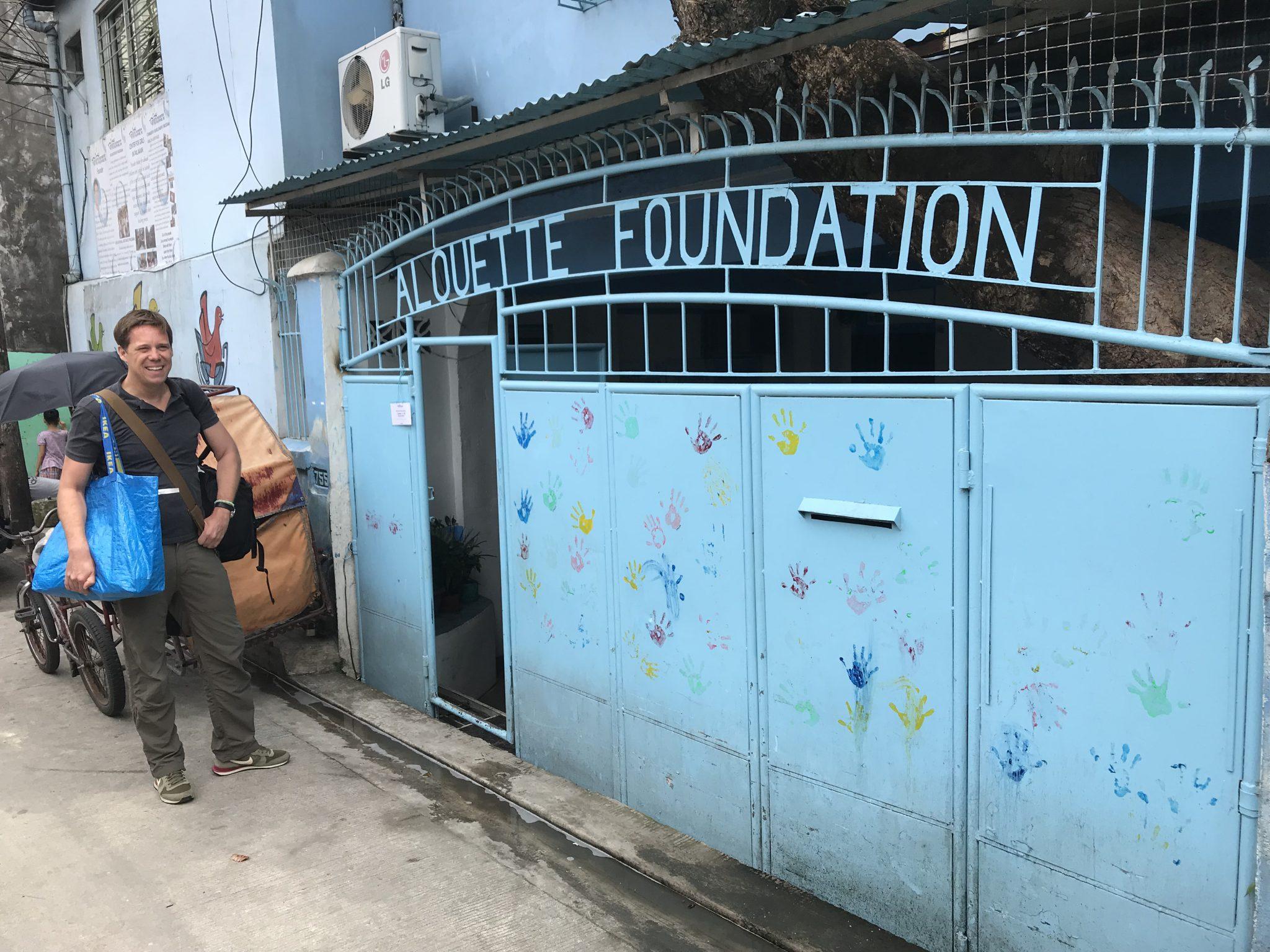 Ankunft bei der Alouette in Metro Manila