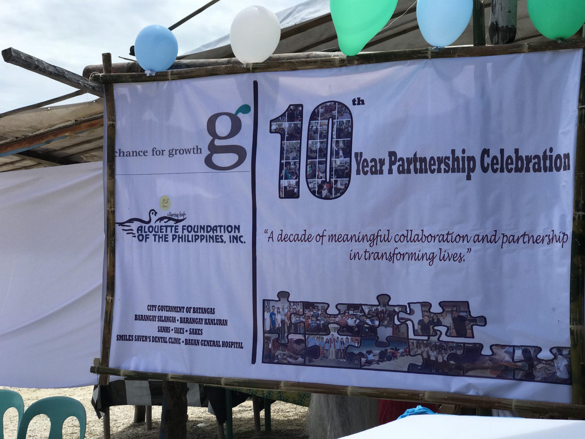 Feier der 10-jährigen Zusammenarbeit